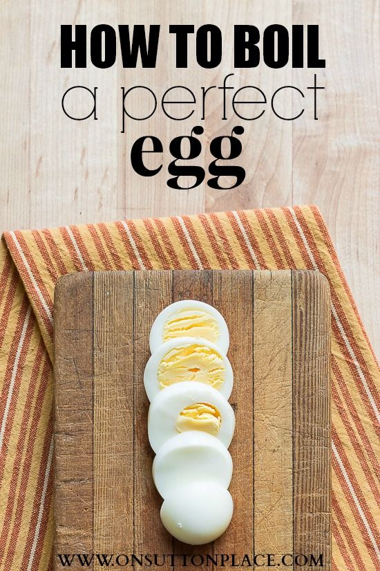 Step by step directions that show you how to boil a perfect egg. Works every time!