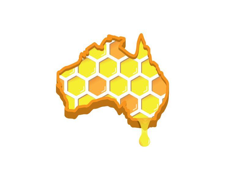 Logo Design | Australia Honey Hive | 727 Creative Group