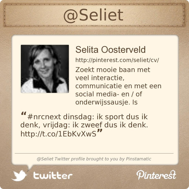 @Seliet's Twitter profile courtesy of @Pinstamatic (http://pinstamatic.com)