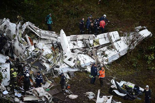 Doomed jet carrying Chapecoense football team crashed into mountains killing 71 due to 'failings caused by human error' - Mirror Online