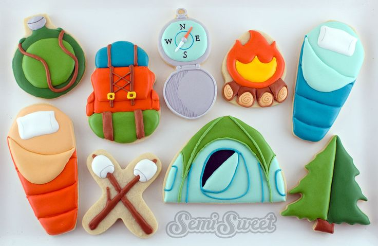 Camping Cookies by Semi Sweet Designs