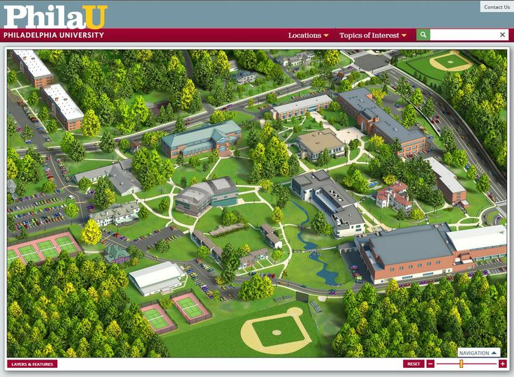 Philadelphia University Campus Map  Maps  Pinterest