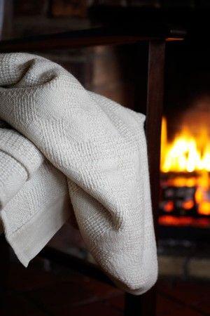 Pure wool & mohair Hannah blanket