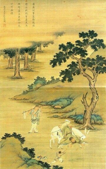 진단타려도(陳摶墮驢圖)  윤두서,비단에채색, 111×68.9cm 국립중앙박물관 소장/  나귀에서 떨어지는 진단선생/윤두서/ Painting of Chen Tuan Falling from a Dongkey