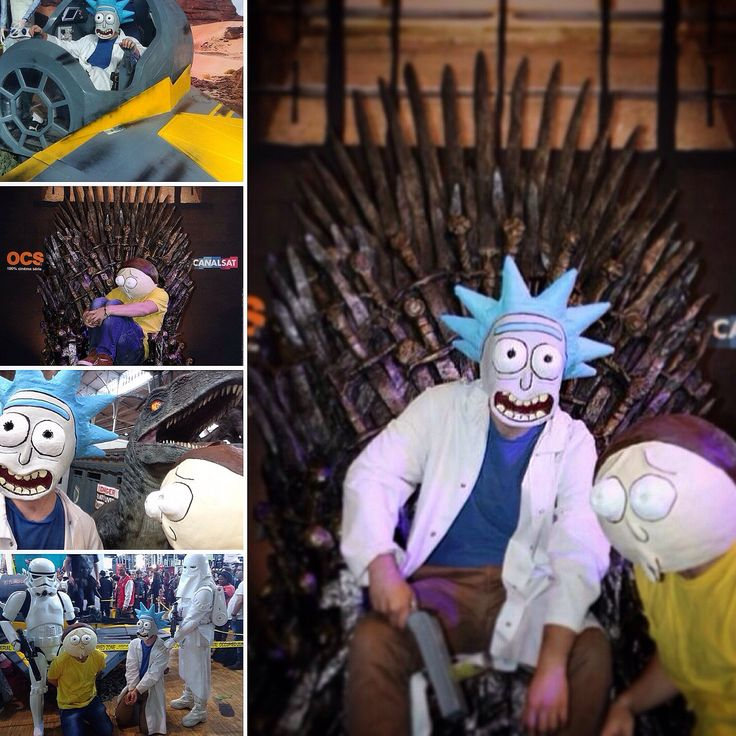 Rick and Morty Mask at Comic Con 2015