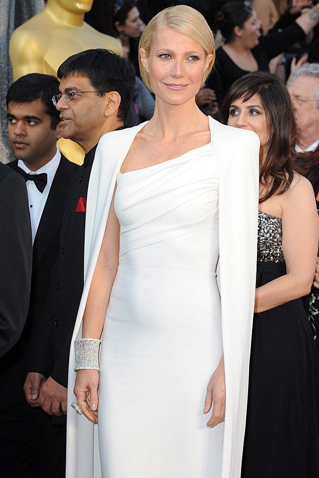 Gwyneth Paltrow con vestido de Tom Ford. #Oscars2012
