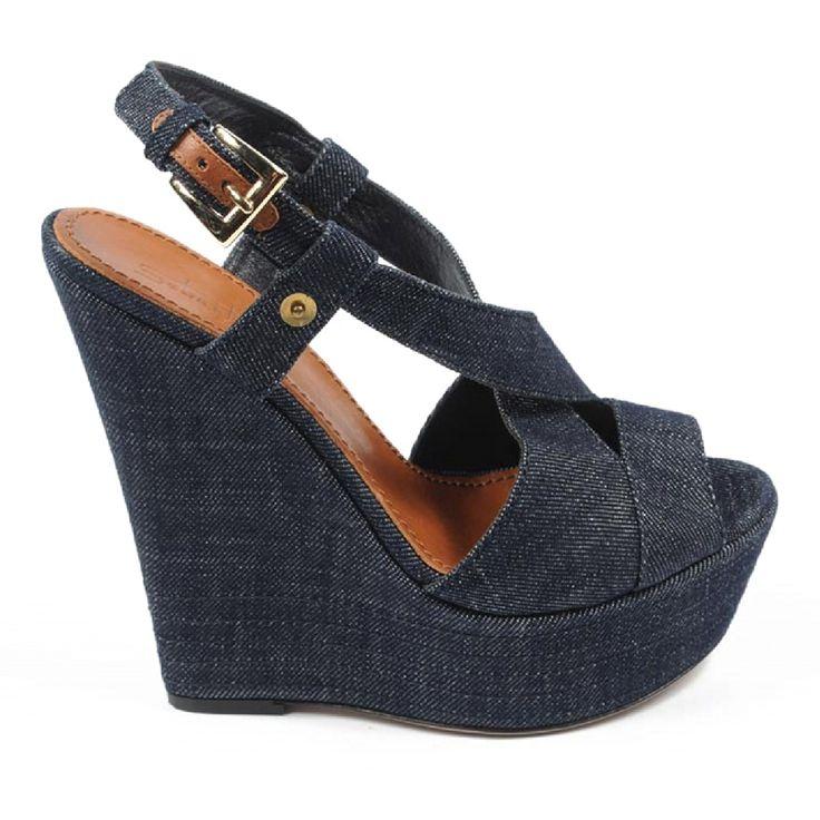 Sebastian Milano ladies espadrille wedge sandal S5309 JEANS VALIVO