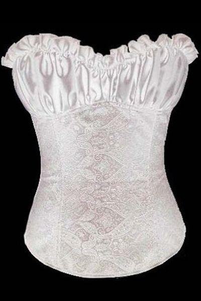 White Creamy Lvory Renaissance Corset Top