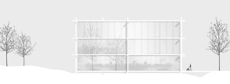 "Imberg Arkitekter - Proposal for ""Barnrum"" - A space for children in Stockholm. East elevation."