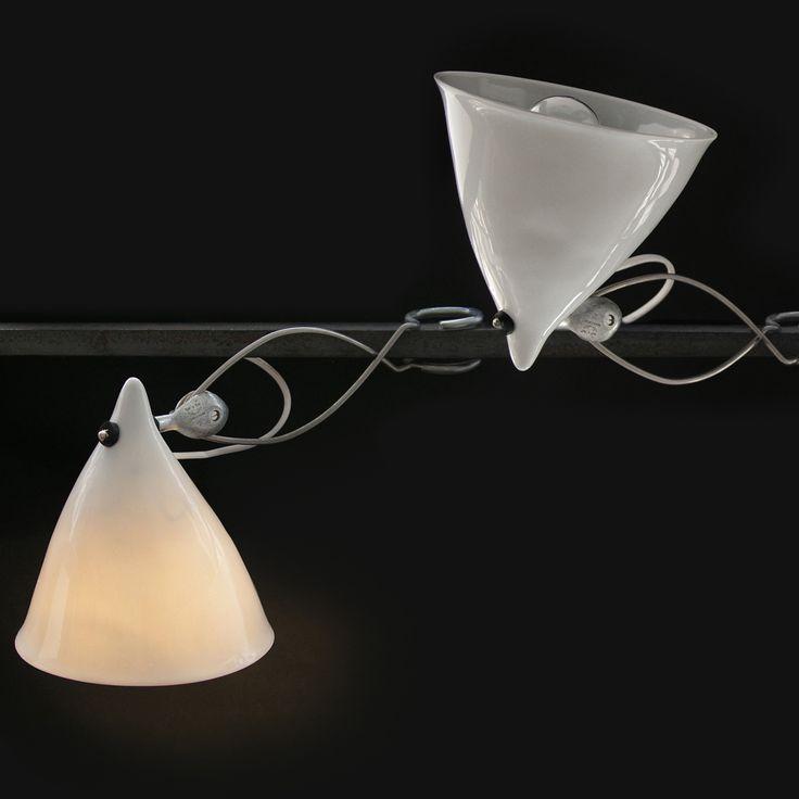 159€ Tsé & Tsé CORNETTE - Lampe à pince porcelaine Blanc émaillé H18cm