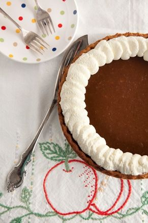 Apple Butter Pumpkin Pie #pauladeen
