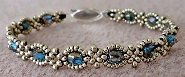 "Linda's Crafty Inspirations--MINGLES TWEAK #2 11/0 Miyuki Duracoat Galvanized ""Pale Mink"" seed beads (D4221)  15/0 Miyuki Duracoat Galvanized ""Pale Mink seed beads (D4221)  4mm fire polished beads ""Sapphire Celsian"" Clasp"