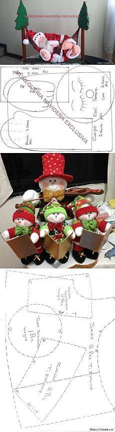 un montón de hermosa Shitikov Navidad / juguete Mundial / Tilda. Clases magistrales, los patrones.