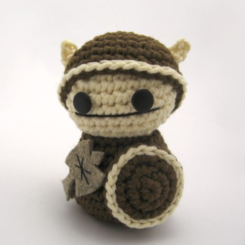 Amigurumi Viking.  Free pattern from Christen Haden to complement her book 'Creepy Cute Crochet'