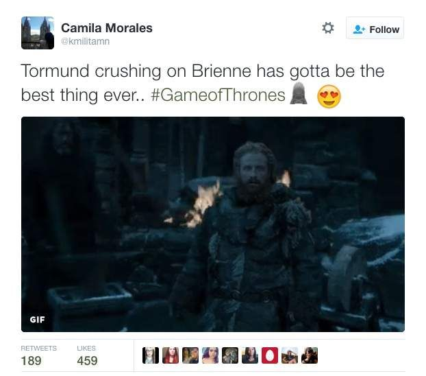 Brienne and Tormund - Game of Thrones Memes