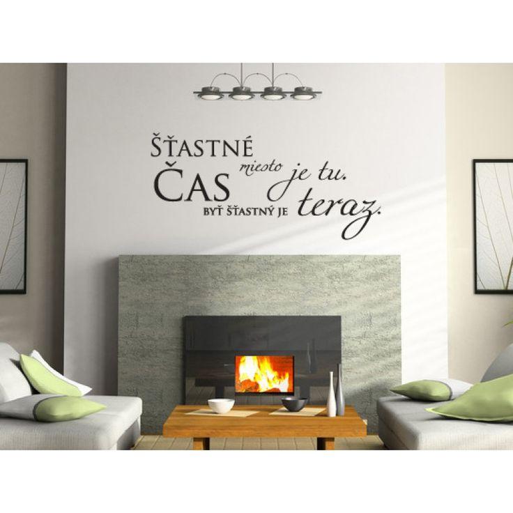 Šťastné miesto je tu - nálepka na stenu - Nálepky na stenu  - Nálepky a plagáty   Vesele-veci.sk