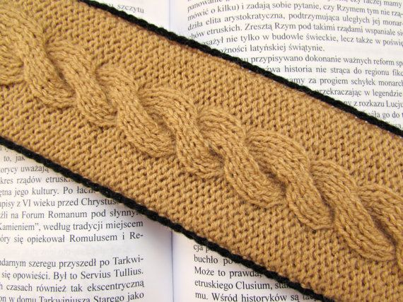 Unique Bookmark Beige Bookmark Knitted by MyRainbowColors on Etsy