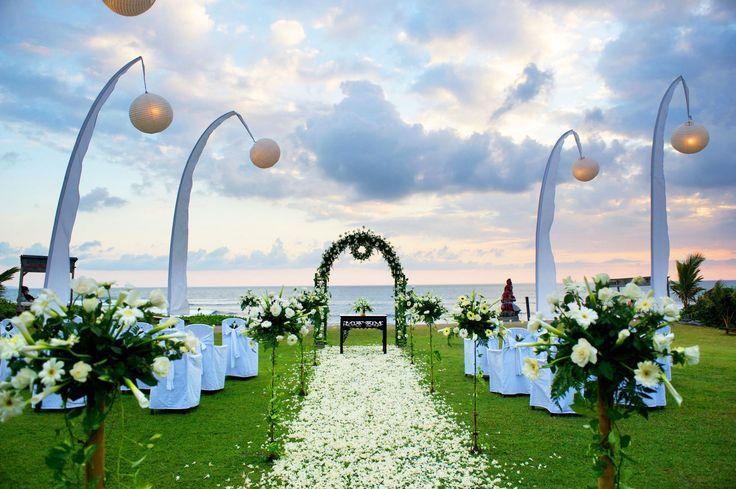 Wedding decorations at Hotel Tugu Bali, Canggu Beach