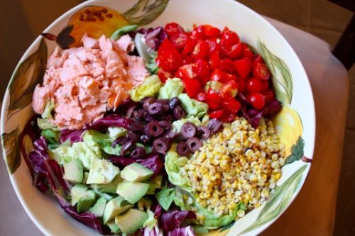 Summer salmon salad: Eating Salad, Salmon Salad, Nom Salad