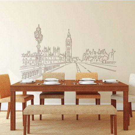 Da profundidad a tu pared con vinilos decorativos elegantes de ciudades