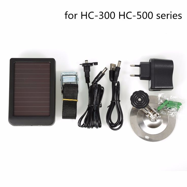 Hunting Camera Solar Panel Charger US EU Plug Battery IP54 7.4V Output For HC300 HC300M HC500 Series Hunting Cameras