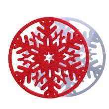 Nuovo disegno 10 pz di natale fiocco di neve materassino isolante rilievo della tazza pad termico decorazione fornitore spedizione gratuita(China (Mainland))