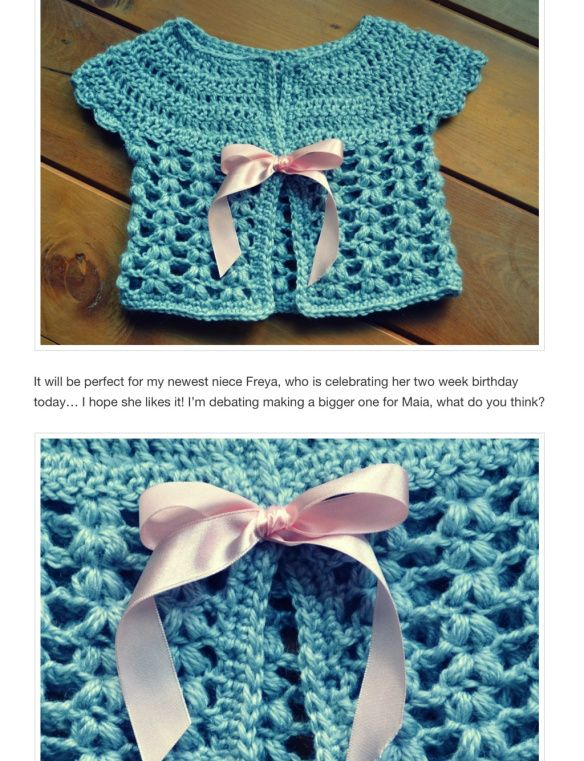Crochet jacket for newborn - want to adapt for doll