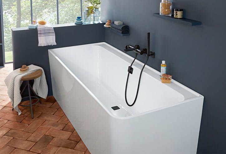 Collaro Bath Back To Wall Bath Uba180cor9cs00vd Villeroy Boch