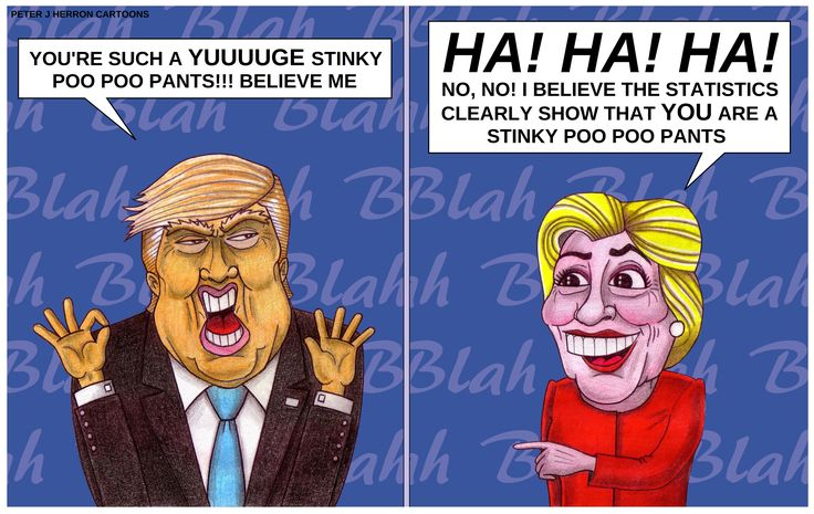 This Cartoon Hilariously Sums Up The Trump Vs Clinton Presidential Debate Perfectly!!! | Bored Panda