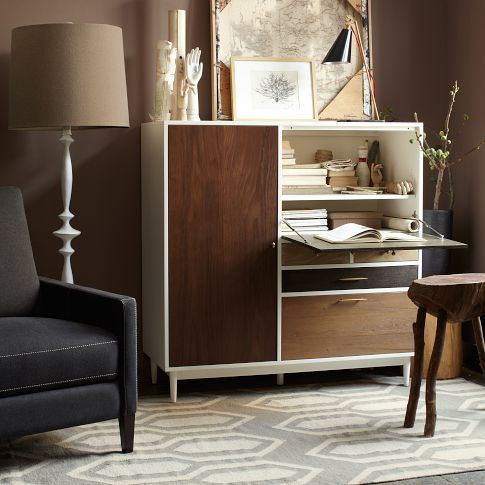 New patchwork secretary from west elm pieced patched - West elm office desk ...