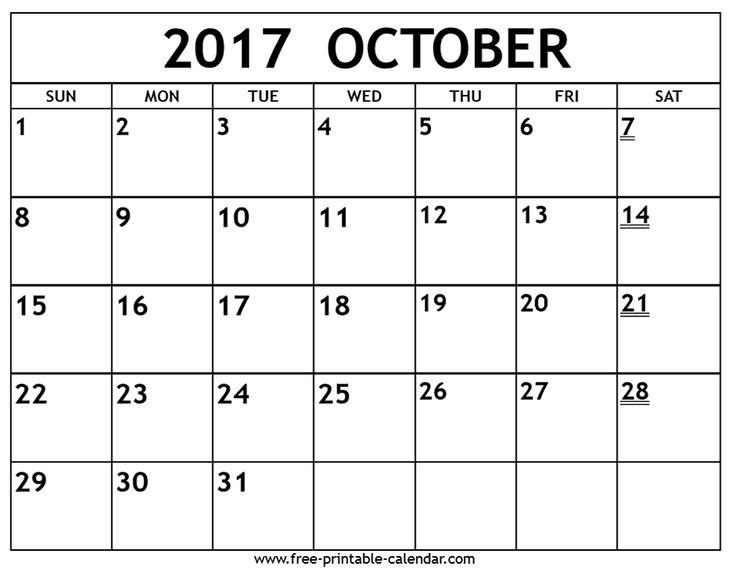 free printable 2017 October Calendar - Yahoo Image Search Results