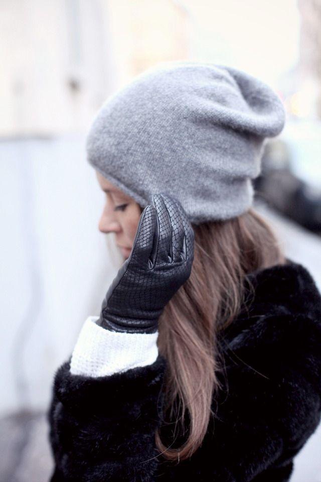 Massimo Dutti gloves // COS cashmere beanie