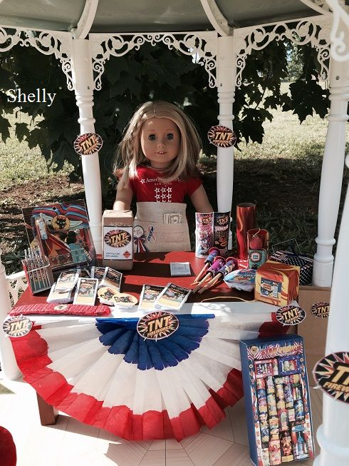 Living A Doll's Life : DIY Firework Stand