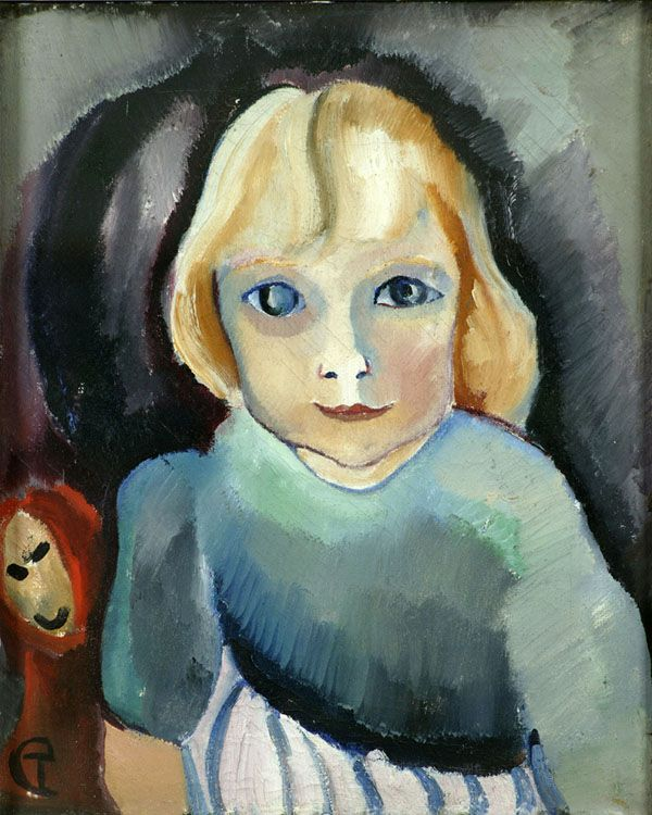 'Annetje', 1917 (a little girl, klein meisje) – by Charley Toorop | oil on canvas | photo De Wieger, Deurne | brabantcultureelbrabantliterair.