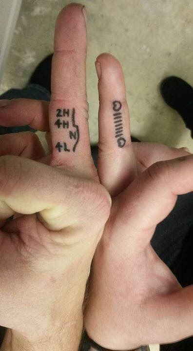 Jeep couples tattoo