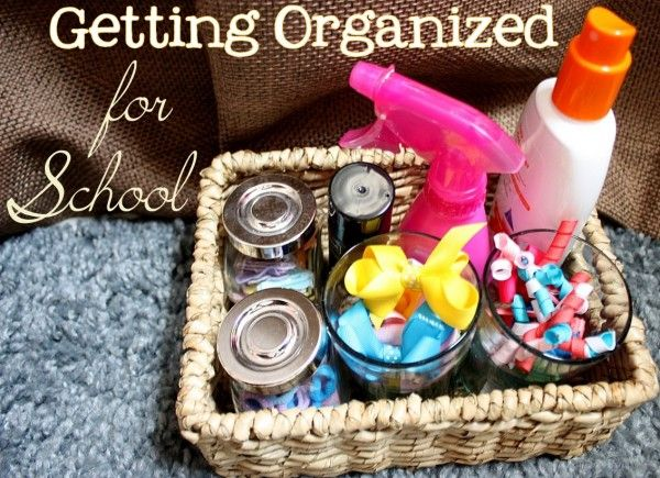 Back to school organization from Tatertots & Jello! Love the idea to use a daily pill box to organize hair accessories!