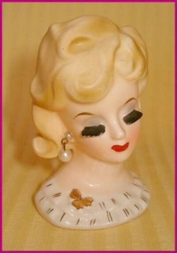 Napco Elegant  Little  Headvase Pretty Lady