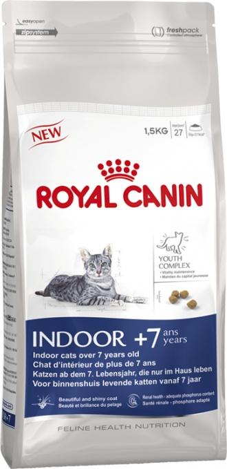 Royal canin indoor +7 pienso para gatos. Pienso para gatos / Comida para gatos seca Royal Canin para gatos · fhn indoor +7. Indicado para seniors mayores de 7 años de todas las razas que conviven en el interior. Ingrediente principal: Ave. En Petclic ahorras mas de un 35% en todas tus compras de piensos y alimentación para gatos. Todas las garantías. Toda la seguridad que necesitas y mas de 5.000 productos de alimentación rebajados. www.petclic.es