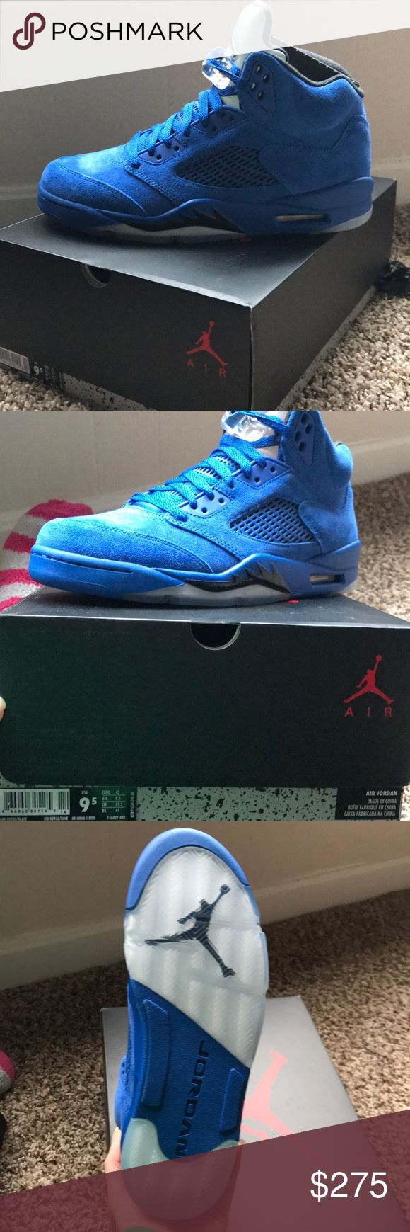 Air Jordan 5 Retro Royal Blue Retail $190. BRAND NEW, NEVER WORN. Dead stock!! Meaning not available in stores. Shoes Sneakers