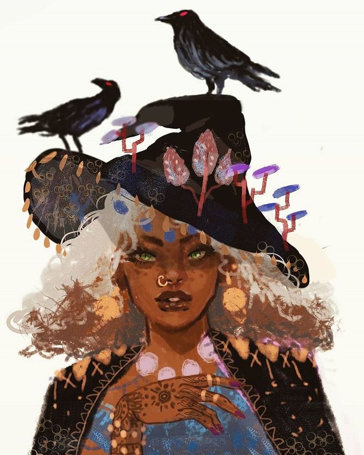 "7,176 Likes, 50 Comments - muna (@munadraws) on Instagram: ""1 out of 2 new finished illustrations I made this month for my witch series!!! This one was more of…"""