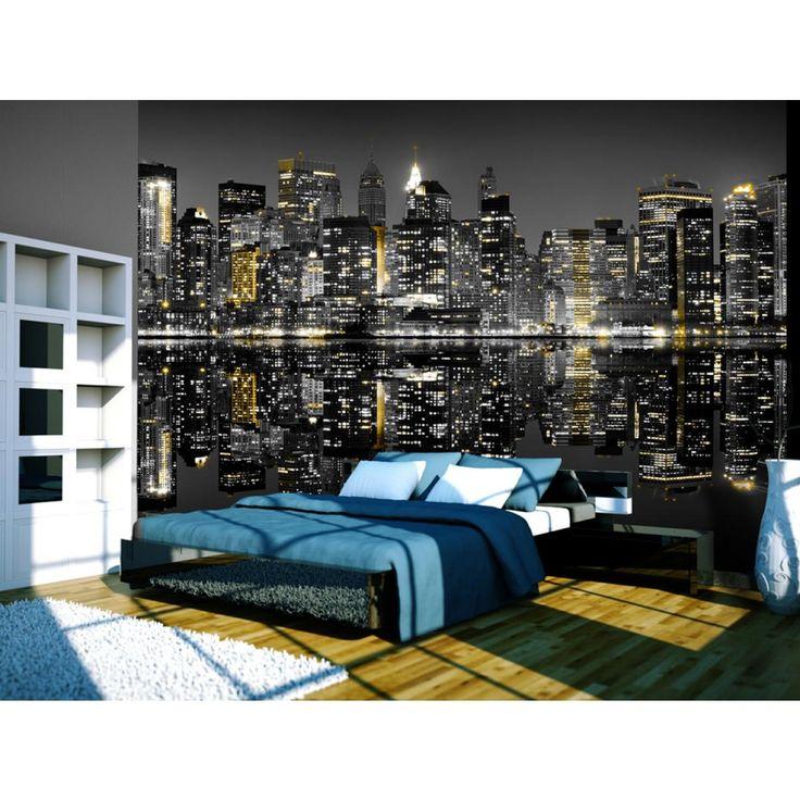 Introduzca las luces de Nueva York a tu dormitorio a través de fotomural de Artgeist #fotomural #fotomurales #nuevayork #NY #newyork #wallpapers #artgeist