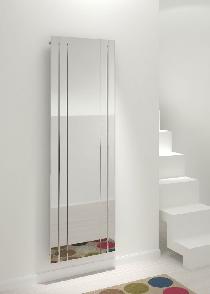 Kudox Tova Mirror Vertical Radiator, (H)1800 (W)600mm | Departments | DIY at…
