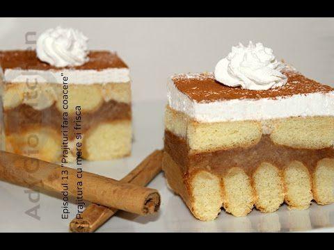 Prajitura cu mere si frisca - Ep 13 - Prajituri fara coacere Adygio Kitchen - YouTube