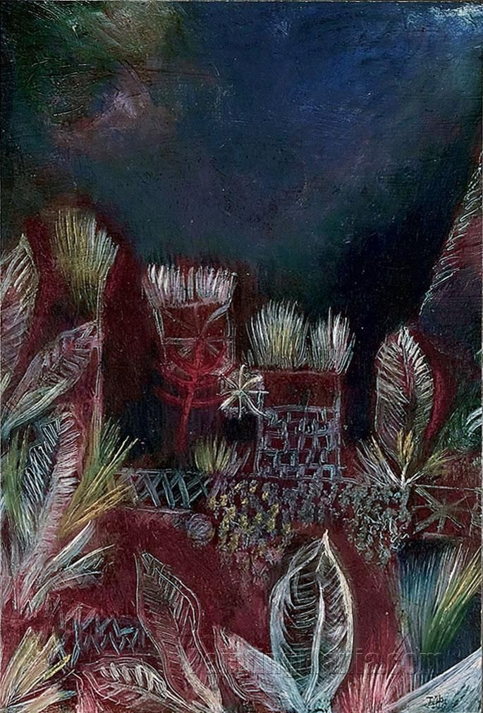 Tropical Twilight by Paul Klee 1921
