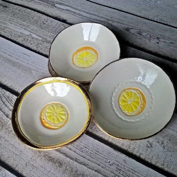 My little porcelain lemon's bowls
