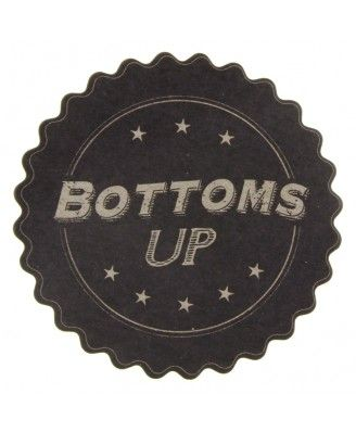 Bottoms Up Coaster - Clearance - Gifts & Decorations - East of India - Shop by Brand | TemptationGifts.com