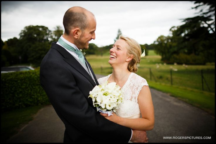 Bride and Groom portrait at a Denton Hall wedding in Yorkshire