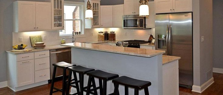 Two level kitchen islands with breakfast bar kitchen for Two level kitchen island