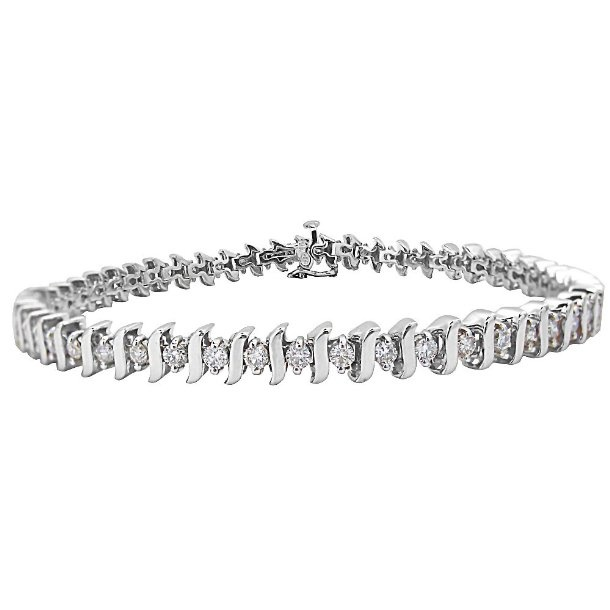 Emily & Ashley ID Bracelet with 2 Diamonds - 5.5 Inches IQ8KwK1