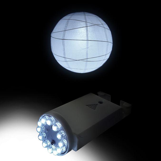 LED Battery Operated Paper Lantern Light 12 Super Bright LED $4.50 each / 12 for $4 each (7 hr )